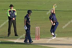 Adam Zampa bowling action Essex during ...