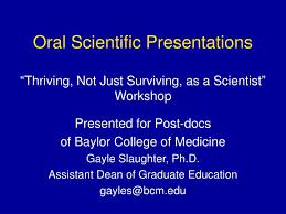 Ppt Oral Scientific Presentations Powerpoint Presentation Id 19831