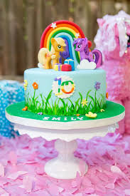 my little pony cake from a glam fl my little pony birthday party on kara s party