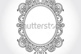 oval frame tattoo design. Vintage Oval Frame By AntonShpak GraphicRiver Design  Tattoo Antique Oval Frame Tattoo Design