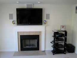 mounting tv above fireplace where to put components ideas
