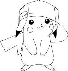 Pikachu With A Hat Coloring Page Through The Thousand Images On