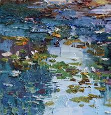 water lily pond original oil painting valartgallery my livemaster