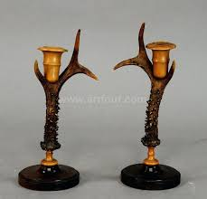 antique wooden candle holders rustic wood and antler candles old pillar