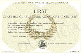 First Class Honours First Class Honours Retard Award Of The Century