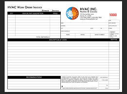 custom service invoices template free hvac service invoice template custom order form