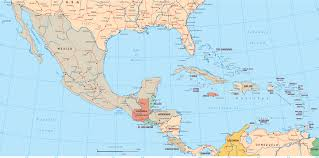 political map central america and caribbean