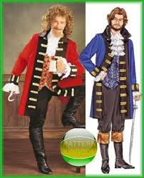 Pirate Costume Pattern Cool Pattern Kingdom Mens Cultural Historic Costume Patterns