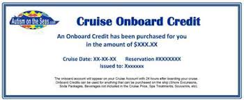 Cruise Gift Certificate Template Gift Certificates Autism On The Seas
