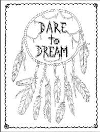 Small Picture Instant Download Hand Drawn Dreamcatcher Coloring page Clip Art