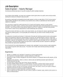 Duties Of A Sales Associate Gorgeous 48 Sales Engineer Job Description Templates PDF DOC Free