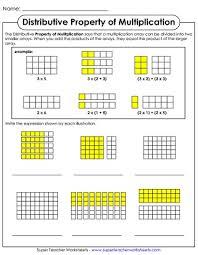 Properties Of Multiplication Chart Properties Of Multiplication Worksheets