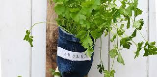 How To Make Indoor Herb Garden Planters From Denim