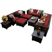 tk clics 12 piece barbados 12d outdoor wicker patio furniture set terracotta