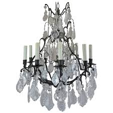 french crystal chandelier with pedeloque drops circa 1940s