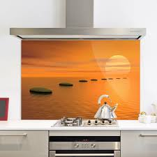 Zen Kitchen Kitchen Splashback Zen Kitchen Splashback Sunset Glass