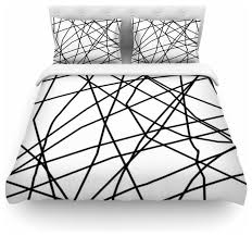 trebam paucina v3 black white duvet cover contemporary duvet covers and duvet sets by kess global inc