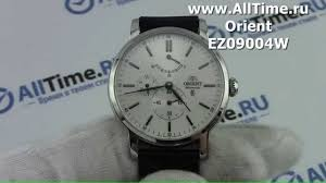 Обзор. Мужские наручные <b>часы Orient</b> EZ09004W - YouTube