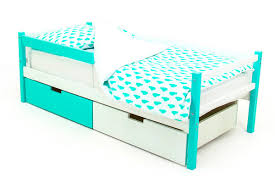<b>Кровать</b>-<b>тахта</b> детская <b>Бельмарко Skogen</b>, 340053, <b>мятный</b>, белый