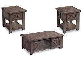 magnussen home garrett wood 3pc coffee table set to enlarge