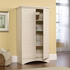 Furniture For Kitchen Storage Sauder Harbor View Storage Cabinet Antiqued White Walmartcom