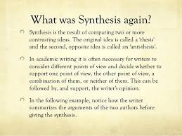 Sample Synthesis Essays Examples Of Good Thesis Statements For Synthesis Essays Essay