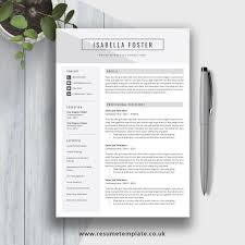 Modern Cv Template Word 2019 1 3 Page Resume Professional And Teacher Resume Design Cover Letter And References For Digital Instant Download