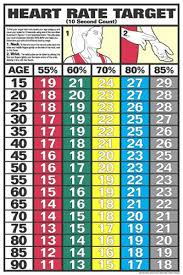 Heart Rate Target Wall Chart Poster 10 Second Count