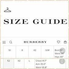 Burberry Prorsum Size Chart
