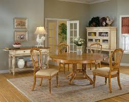 Hillsdale Wilshire Antique Pine 5 Piece Round Dining Set with Side Chairs