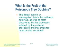 THE BLOOD DOCTORFruit Of Poisonous Tree Doctrine Definition