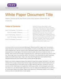 Writing a White Paper for a Product Development Professional