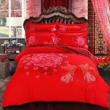 diamond velvet bedding sets twin queen size red cotton set duvet pillowcases in from home garden red velvet quilt