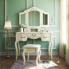 vanity table. Shabby Chic Style Vanity Makeup Table Via Amazon
