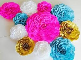 We have thousands of different designs to match your room. 12 Pink Gold Teal Large Paper Flowers Wall Decor Backdrop Henna Mehndi Arabia Nights Bollywood Party Moroccan Wedding Sangeet Decor Frozen By Paperflower4youparty Catch My Party