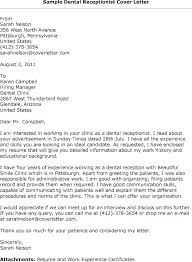 Best Ideas Of Cover Letter Examples Junior Receptionist Free Sample