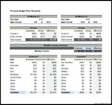 Excel Biweekly Budget Template Free Personal Budget Tracker Template Bi Weekly Excel