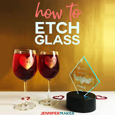 how to etch glass the easy way with vinyl decals cut on your cricut and armour