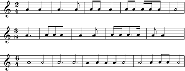 The center of the measure in 2/4 time is between beats one and two, so remember: 1 2 Time