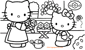 Daniel is hello kitty's boyfriend (someone says his best friend ). Hello Kitty Coloring Pages Coloringpagesonly Com