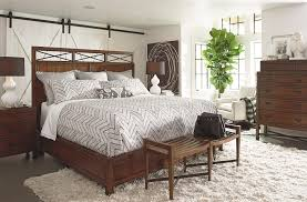 furniture brown teak wood bed frame with high headboard and white pattern bedding bed plus