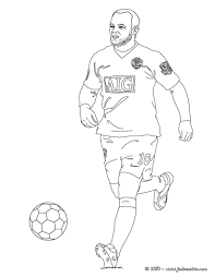 Coloriage Du Joueur De Foot Wayne Rooney Imprimer Gratuitement Ou