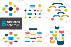 Flowchart Schemes For Infographics Box Business Chart