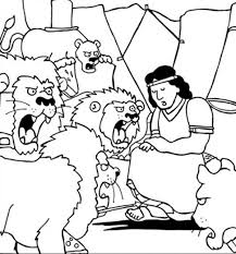 Small Picture Daniel Thrown into Lions Den in Daniel and the Lions Den Coloring