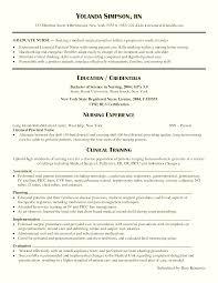 Sample New Grad Nursing Resume New Grad Nursing Resume Clinical Experience emberskyme 45