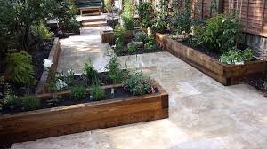 Small Picture travertine paving patio garden wandsworth london raised beds