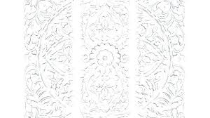 en whitewashed carved wood wall decor white paper