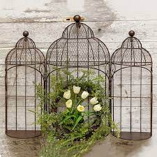 This awesome iron garden mirror decor is designed skillfully which is worth complimenting. Birdcage Wall Decor Antique Farmhouse