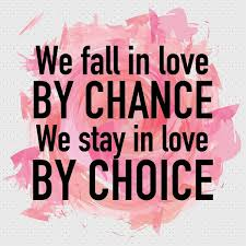 Love Quote Staying In Love Or Falling Out Of Love Is A Choice New Love Is Quote