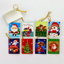 Mini Santa Claus Cartoon Christmas Card Folding Handmade Greeting Cards Christmas Gift Valentines Day New Years Greetings Card 64 Styles Gift Cards